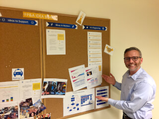 Lorring kicks off Job Shadow program through the department Idea Board, May 2019