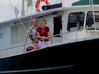 Photo by Jan and Nick Wooller. Here they are aboard s/v Yawarra II